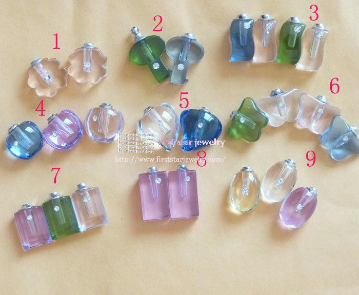 Nove estilo que você pode escolher de vidro Arroz Vial com tampa de rosca / cor parda(China (Mainland))