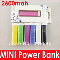 NEW cheap 500pcs 2600mAh MINI Portable Emergency Power Bank battery Charger for iphone 54S iphone5 HTC i9300 N7100 free DHL