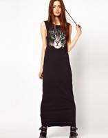 2013 Summer New Printing Cat Face Vest Dress Women Dress Wholesale