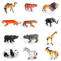 Hot Selling Wild Animal Toy Fingure Set Eco-friendly Plastic Model Camel Lion Zebra.ect 12 Styles Free Shipping