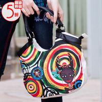 Desigual kasita doll head colorful 2-illust handbag bag 025