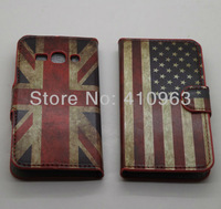 1pieces/lot Free shipping Flower Leather Flip Cover Case for Samsung Galaxy Ace 3 S7272