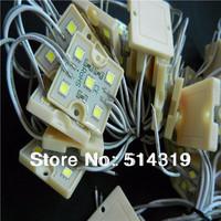 2014 hot sale 100pcs/lot  warranty 2 years  5050 5LEDs warm white Module Lamp 12V Waterproof IP65 -free shipping
