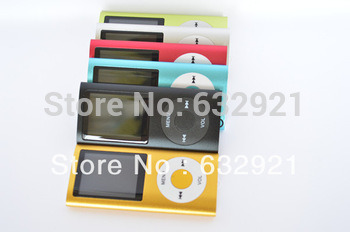 "300pcs/lot Slim 4TH 1.8""LCD MP3/MP4 speaker Video Radio FM Player Support 2GB 4GB 8GB 16GB SD TF Memory Card free shipping"