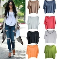 Fashion women's short-sleeve T-shirt loose shirt modal basic shirt summer 2013 women's