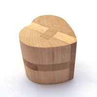 Beech lock luban ball series adult educational toys wooden toy lock 0.1
