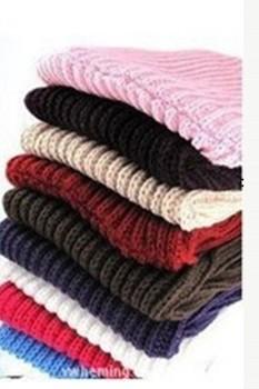 New Fashion Women Warm Knit Neck Circle Wool Blend Cowl Snood Long Scarf Shawl Wrap