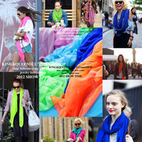 2013 Hot style Fashion star autumn and winter bali yarn neon candy color scarf female cape