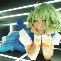 AKB0048 Suzuko Kanzak Green Pear head slightly Lockigen Cosplay Wig