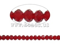 Free shipping!!!Rondelle Crystal Beads,Supplies For Jewelry, imitation  crystal, ruby, 6x5mm, Hole:Approx 1mm