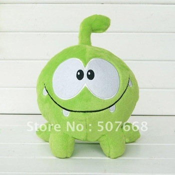 Plush Cut the Rope Green size 25cm Game toy plush toy for game toy 100pcs/lot
