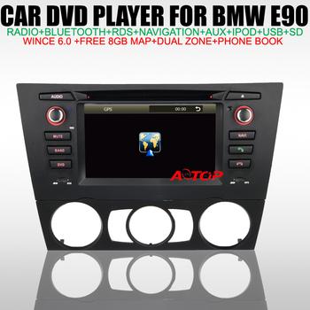 """Special 6.2"""" Car DVD GPS for BMW 3 Series E90 E91 E92 E93 with GPS Navigation Bluetooth USB TV IPOD Radio RDS SD Free 8GB Map"""
