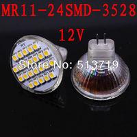 1.5W MR11 GU4 LED Bulb Lamp 24 SMD 3528 White LED Lamp Spotlight SMD 1210 free shipping