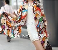 Free shipping 2013 CHEAPEST novel cartoon figure fashion South Park silk scarf woman 's cape velvet chiffon scarf