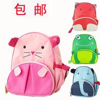 Ship hop cartoon canvas kindergarten small school bag animal backpack  (Free shipping)