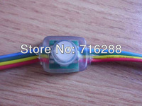 Free shipping 50pcs string 12mm WS2801 digital led pixel module IP68 DC5V input 0.3W full 24 bit color