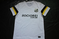 13 14 New season Santos Futebol Clube White Soccer Jersey,best thai Quality Sociorei player version shirt