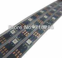 LED dream color strip,5M WS2812 LED digital strip 30leds/m smd 5050 rgb led chip with WS2811 built-in black pcb IP65 waterproof