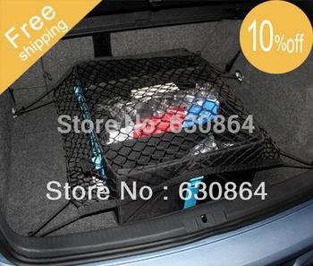 Free Shipping CAR Mesh Cargo Net Holder Trunk Elastic Storage 4 Hook For Volkswagen VW GOLF6 GTI CC TIGUAN Touran skoda Octavia