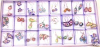 Wholesale 24 pairs Lovely Cloisonne earring &S925 stud
