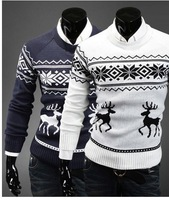 Free shipping The new men's round collar deer sweater for Christmas sweaters, pullovers
