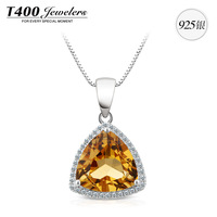 T400 brand jewelry,made with  Natural Citrine and AAA zircon,women,925 sterling silver,November Birthstone#10594,free shipping