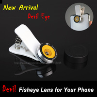 New 2013 Universal Clip Fish Eye Fisheye Lens for Iphone 4 4s 5 Samsung Galaxy S3 S4 HTC ONE