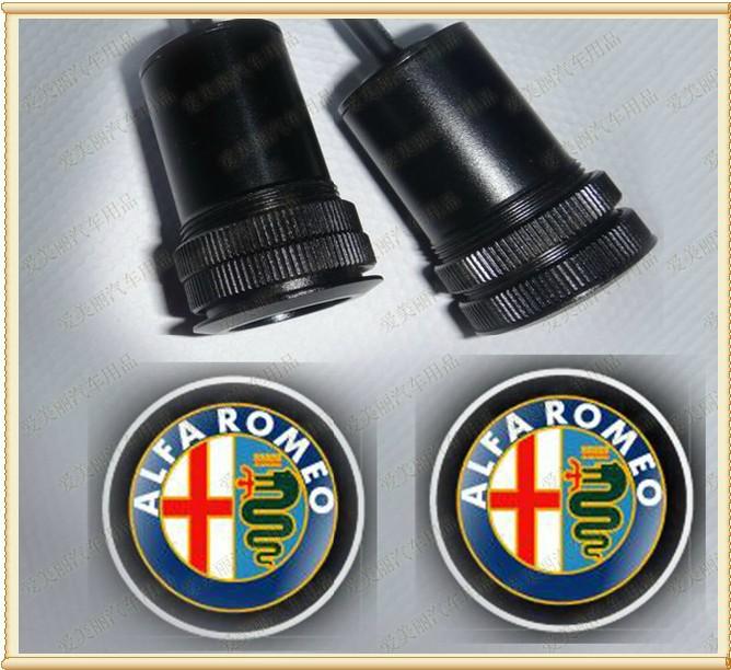 ALFA ROMEO LOGO Car LED Emblem Welcome Light Door Step Ground Projecting Lamp For Giulietta/ MiTo/159/147/Spider/Brera etc(China (Mainland))