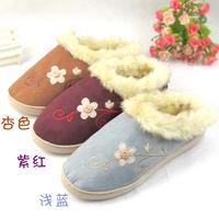 Free shipping home slippers new 2013  women flats  cute slip-resistant waterproof warm slipper