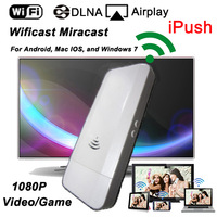 Wifi HDMI Wificast Miracast Dongle 1080P Mirroring iPush Media File to TV for Android, Mac IOS, Windows 7 Free shipping
