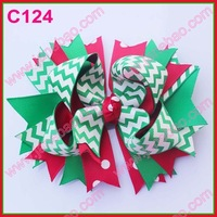 Christmas feather hair bows 65pcs character bows & korker bows & boutique hair bows layered corker bows