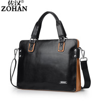 2013 new ZOHAN designer brand men genuine leather handbags business laptop bag cowhide briefcase men messenger bags