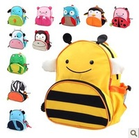 Free Shipping Cute Zoo Cartoon School Bags Baby Shoulder Mini Oxford Canvas Backpack Gift for Children Kids Dora Schoolbag SL-16