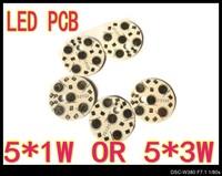 200pcs/Lot 5* 1W 5* 3W 28mm High Power LED Aluminum Base Plate LED PCB Circuit board wholesale
