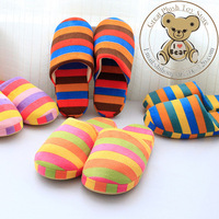 Free Shipping Autumn and Winter Polar fleece lovers rainbow home slippers cotton-padded floor slippers