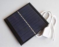 Free shipping Solar panel 5.5V 1W solar charger mobile phone charger solar power solar cell phone charger usb 5v