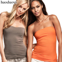 Haoduoyi candy color modal elastic tube top t-shirt comfortable slip-resistant bar 10