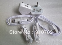 USB Charger  1A  UK Plug Wall Charger + MICRO USB Cable For Samsung Galaxy S4 I9500 Galaxy S3 I9300 Galaxy Note2 N7100