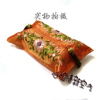 Free Shipping Hand embroidery flowers tassel damask tissue box set decoration new arrival