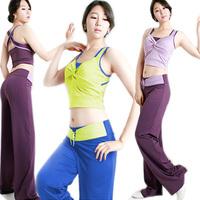 Yoga clothes set for women sleeveless pretty sports wear yoga clothing 3 piece set modal dance wear elegant yoga clothes 169