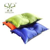 New 2015 Outdoor Camping Travel Automatic Inflatable Pillow  Sleeping Bags Tent  Pillows  Compression Cushion Bedding Set