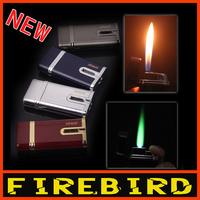 FIREBIRD Classic Metal Dual Flam Windproof Jet flame Butane Gas Cigar Cigarette Torch Lighter