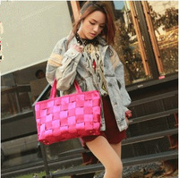 Free Shipping Retail Fashion Women handbag for ladies, weave bags,size 30*10*20cm, 5 colors available