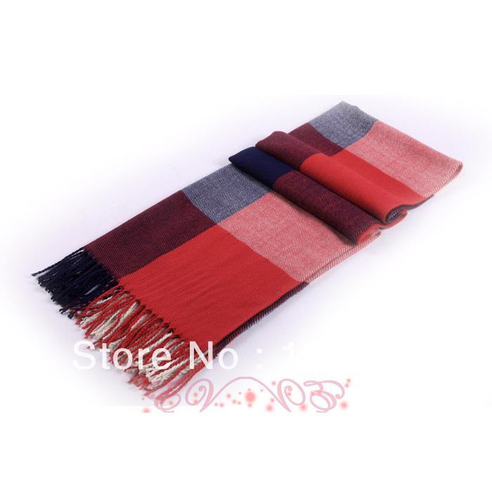 4 colors, 2013 fall&winter hot sale women fashion new designer galaxy plaid long pashmina tassels scarf free knitting patterns(China (Mainland))