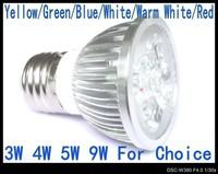 9W E27 AC85V-265V Cool WhiteLED Bulb 240V Spot light 110V Lamp lighting led spotlight 6 color Bulbs AC85V-265V LS72
