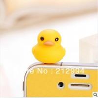 Free shipping yellow cute duck Cartoon animal 3.5mm Anti Dust Earphone Plug Stopper Cap for HTC/Samsung/ Iphone