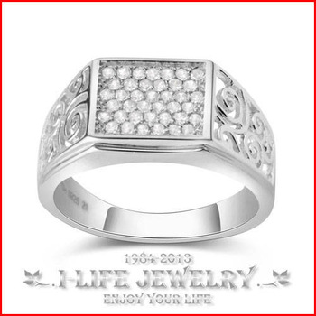 Fashion Jewellery 925 Sterling Silver Starry Zircon Inlaid Stone Cool for Feme Without Gems Bijou Ring Setting