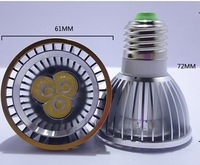 Par20 Led Lamp E27/GU10/E14/MR16/B22 Spotlight Par 20 3X3W 9W Dimmable Led Lighting warm/cool/white