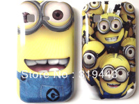 2 Pcs / Lot US Pop Cute Despicable Me 2 Minions Hard Plastic Shell Back Cover Case For Samsung Galaxy Pocket S5300