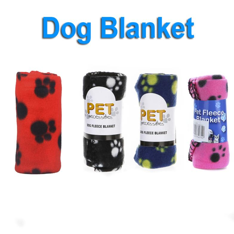 2 pcs/lot,Cute Pet Dog Cat Blanket Paw Prints Soft Warm Fleece Mat Bed Cover Four Colors Freeshipping wholesale(China (Mainland))